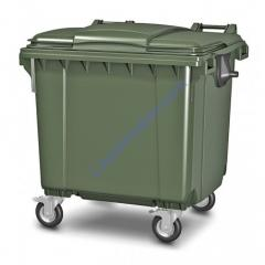 Plastic garbage container of 1100 l
