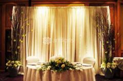 Украшение зала на свадьбу, оформление стола