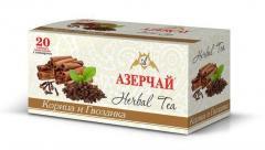 Чай Азерчай травяной корица и гвоздика 20 пак.