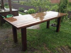 Стол садовый  деревянный 800 х 1600 мм
