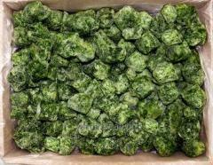 The frozen spinach whole