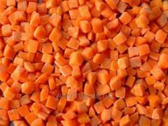 The frozen carrots a cube (Ukraine)