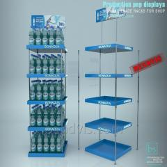Rack for bottles with water