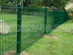 Стальной панельный забор «КОЛЬЧУГА» из сварной