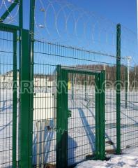 Секционный забор панельного типа ПРОМ из проволоки