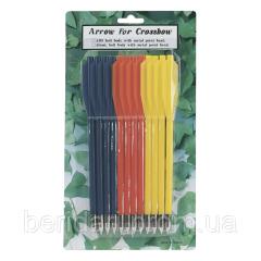 Стрелы для арбалета 12 шт. пластиковые