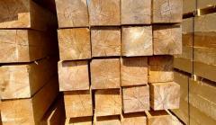 Bar wooden construction of a pine or a fir-tree,