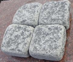 Galtovanny stone blocks from granite (gabbro) of