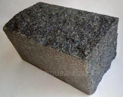 Stone blocks chipped of granite (gabbro) of the
