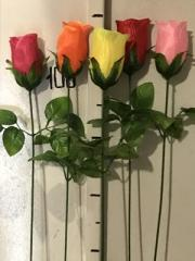 Branches of artificial flowers
