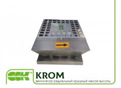 Крышный вентилятор KROM-4-0,117 радиальный малой высоты