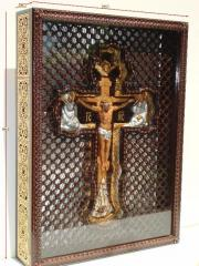 Cross a crucifixion in an icon case