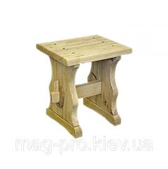 Stool wooden, pine (natural tree)