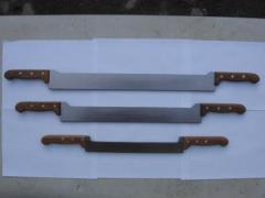 Cheese knives and oils with two handles