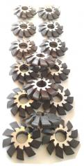 Фреза дисковая модульная м 1,25 к-т из 8 шт , арт. 18667