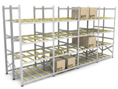 Гравитационный стеллаж для штучных грузов