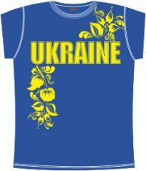 Undershirt t-shirts with the Ukrainian symbolics