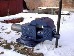 Тиски слесарные 160 мм с поворотной плитой ГОСТ 4045-75, арт. 17955