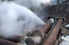 Leak search - rushes - water leakages from