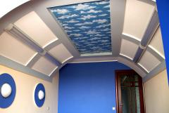 Натяжні стелі для дитячої – вище тільки небо