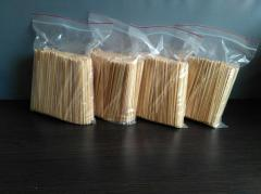 Wooden stirrers for drinks