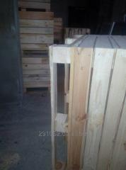 Wooden boxes, boxes, containers, eurocontainers