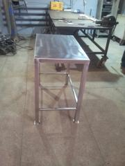 Table from stainless steel, constructional steel