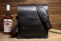 Кожаная мужская сумка POLO. Чоловіча шкiряна
