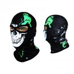Балаклава с черепом Radical Subskull черно-зеленая (original), маска, подшлемник
