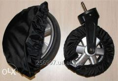 Covers for wheels on a carriage