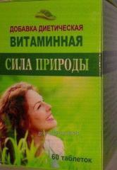 Диетическая добавка Сила природы с витаминнами