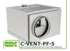 Фен канал за кръгли въздуховоди с напред извити остриета в shumoizolirovannom жилища C-VENT-PF-S