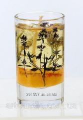 Гелевая свеча сухоцветы