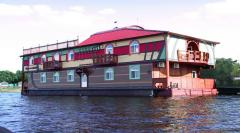 Apartment house on the water