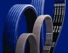 Belts driving to the industrial equipmen