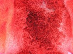 Мех кролика кирпичного цвета