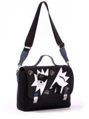 Молодежная сумка-портфель 171332 черный