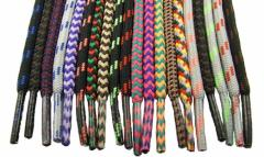 Shoe cord. A lace for footwear. Equipment for