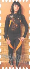 Female diving suit for diving