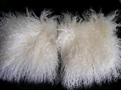 Карманы отбеленные из меха ламы