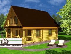 野生原木造的木房