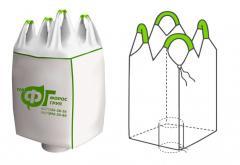 Полипропиленовый мешок биг-бэг двухстропный вместимость 2т