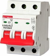 Модульный автоматический выключатель E-Next 3P (от