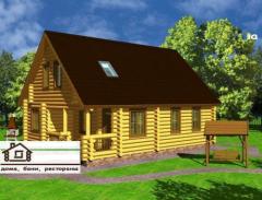 Проект дома с дикого сруба