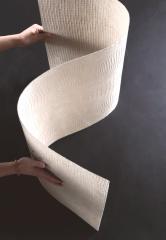Travertine for a facade, flexible ceramics