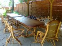 Wooden furniture for summer cafes and platforms,