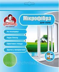 Салфетка из микрофибры для стекла TM Помощница35х30см.