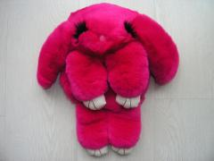 Bag toy the Rabbit in crimson color