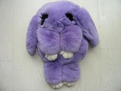 Bag toy the Rabbit in violet color