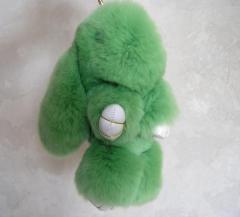 Брелок кролик светло- зеленый